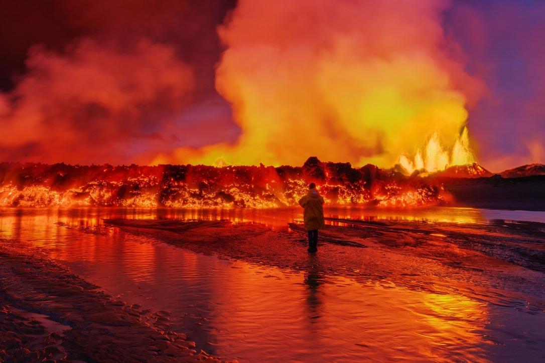 Iceland Volcano Lava Flow 02